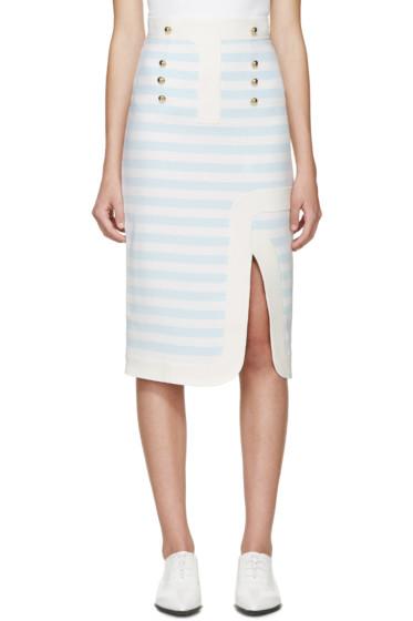 Peter Pilotto - Blue & White Track Skirt