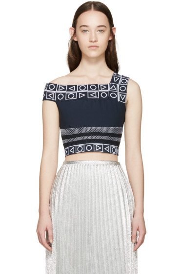 Peter Pilotto - Navy Cropped Top