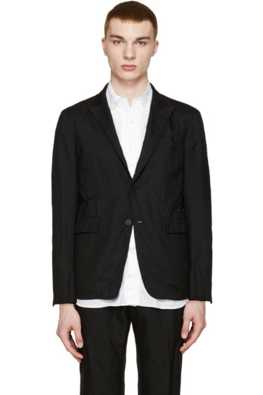 08Sircus - Black Tropical Wool Blazer