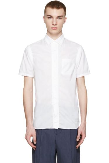 Kolor - White Gathered Shirt