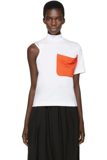 Facetasm - White & Orange Pocket T-Shirt