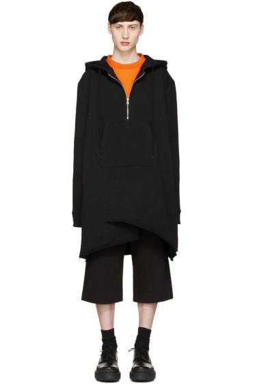 Facetasm - Black Oversized Zip Hoodie