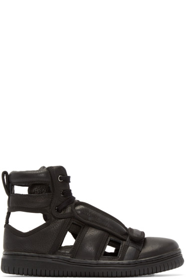 Christian Peau - Black Cp-Hi-Cut Sneakers