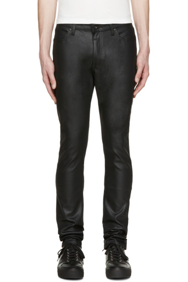 Naked & Famous Denim - Black Waxed Stacked Guy Jeans