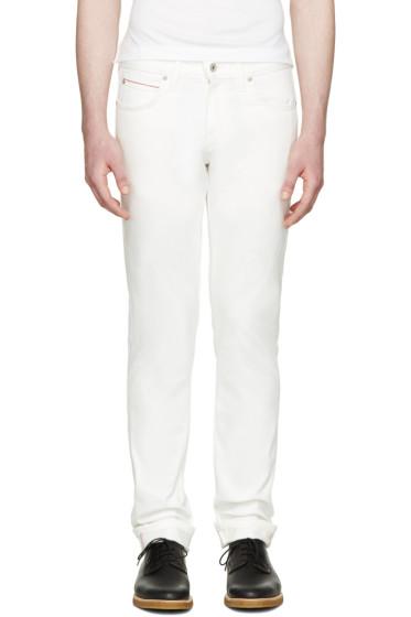 Naked & Famous Denim - White Super Skinny Guy Jeans