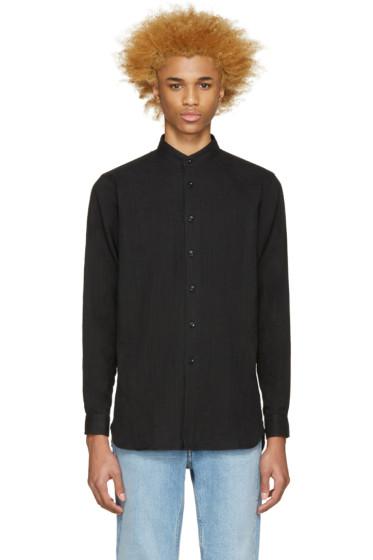 Naked & Famous Denim - Black Stand Collar Shirt