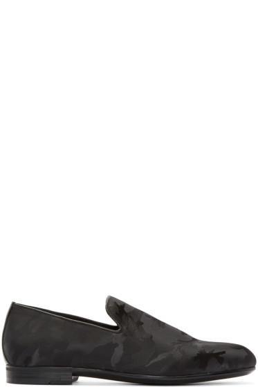 Jimmy Choo - Black Camouflage Sloane Loafers