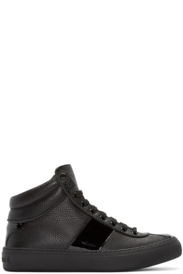Jimmy Choo - Black Belgravi High-Top Sneakers