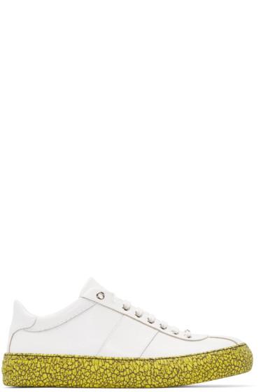 Jimmy Choo - White Embossed Portman Sneakers