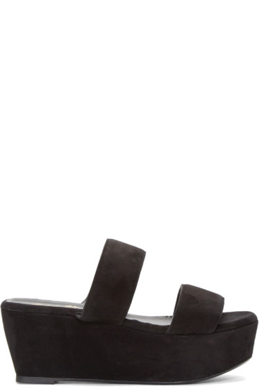 Robert Clergerie - Black Suede Frazziak Sandals