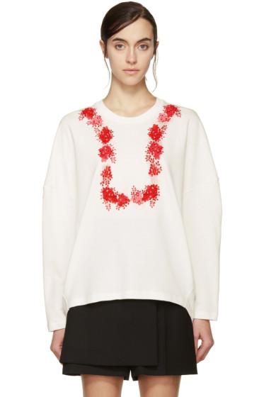 Giambattista Valli - White & Red Floral Sweatshirt