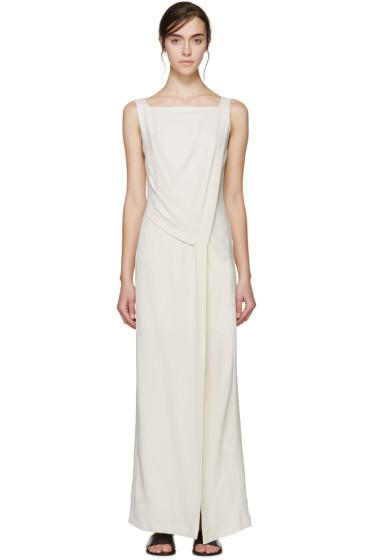 Maiyet - Cream Draped Long Dress