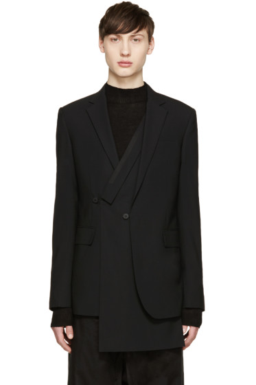 D.Gnak by Kang.D - Black Wool Layered Double Blazer