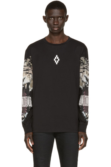 Marcelo Burlon County of Milan - Black Long Sleeve Guisa T-Shirt