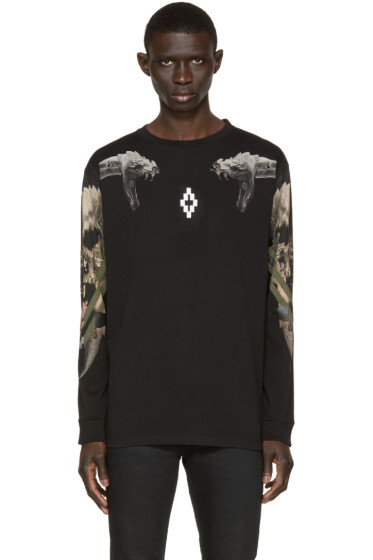 Marcelo Burlon County of Milan - Black Longe Sleeve Pontoetoe T-Shirt