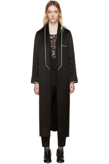 Haider Ackermann - Black Satin Peignoir Coat