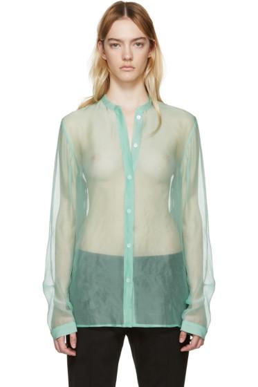Haider Ackermann - Green Silk Dendi Shirt