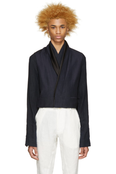 Haider Ackermann - Navy Linen Layered Blazer