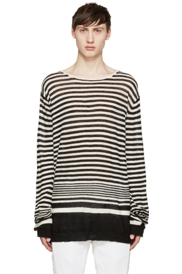Haider Ackermann - Black & White Striped Pullover