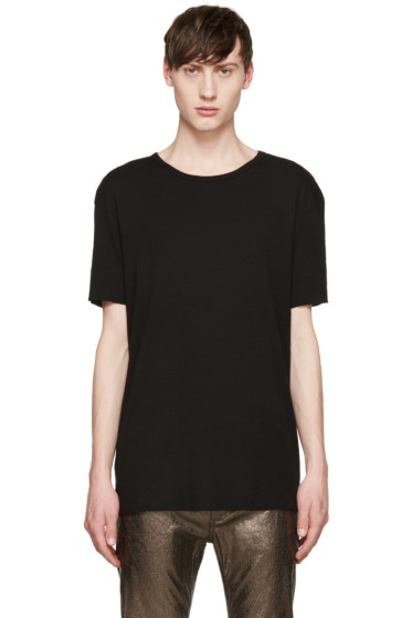 Haider Ackermann - Black Silk T-Shirt