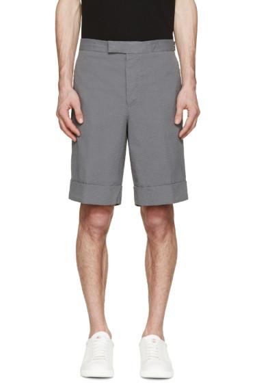 Moncler Gamme Bleu - Grey Seersucker Shorts