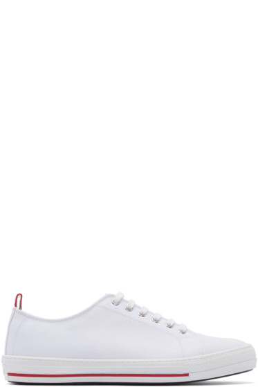 Moncler Gamme Bleu - White Canvas Sneakers