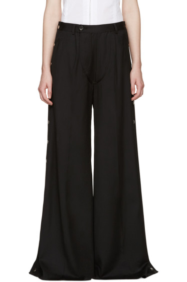 Hood by Air - Black Wide-Leg Snap Trousers