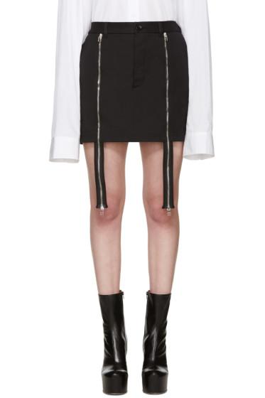 Hood by Air - Black Double Zip Miniskirt
