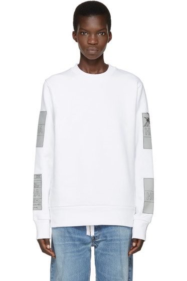 Hood by Air - White Jock Boxes Pullover