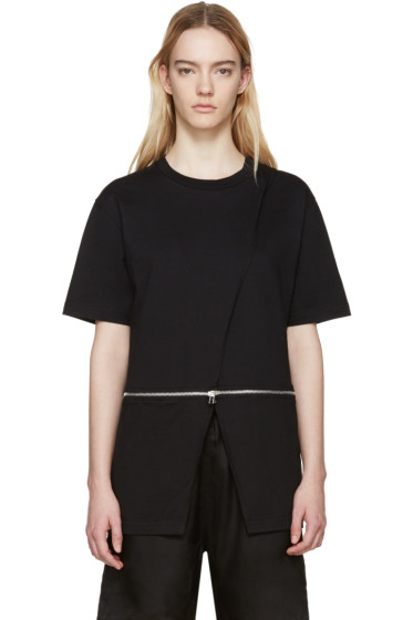 Hood by Air - Black Jersey Sari T-Shirt