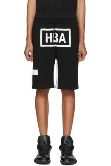 Hood by Air - Black & White Box Logo Shorts