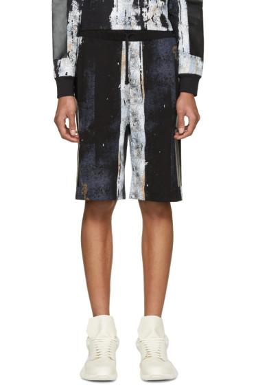 Hood by Air - Black Acid Rinse Box Shorts