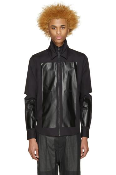 Hood by Air - Black Poplin Hole Shirt