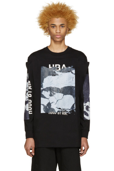 Hood by Air - Black Raw Box Squared T-Shirt
