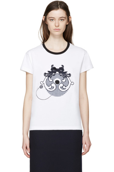 Mother of Pearl - White Check Monster Liber T-Shirt