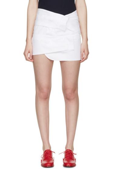 Jacquemus - White Poplin Three Sleeves Skirt