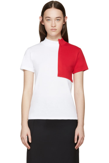 Jacquemus - White & Red Square T-Shirt