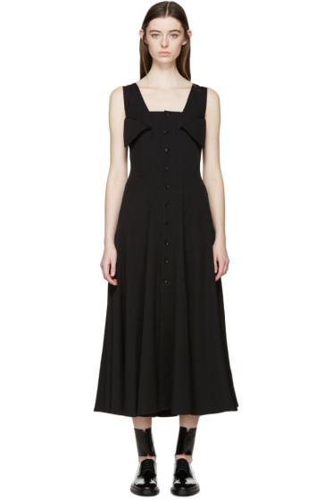 Yohji Yamamoto - Black Gabardine Flared Dress
