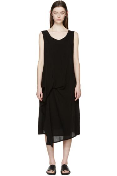 Yohji Yamamoto - Black Draped Dress