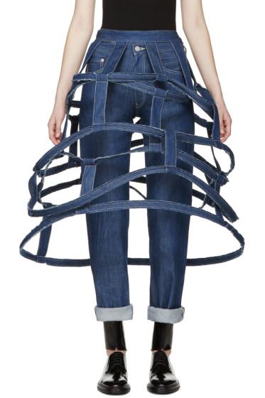 Yohji Yamamoto - Blue Structural Denim Skirt