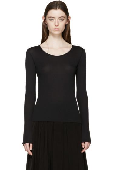 Yohji Yamamoto - Black Long Sleeve T-Shirt