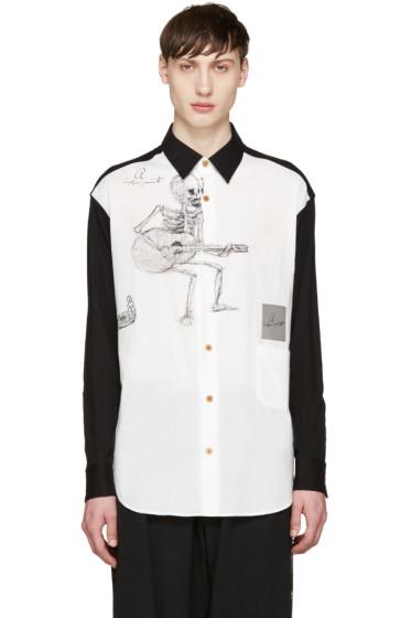 Yohji Yamamoto - Black & White Drawing Shirt