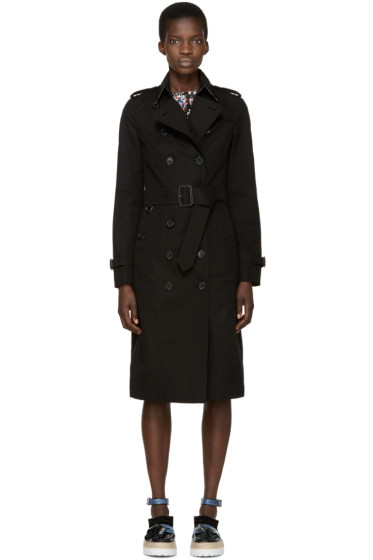 Burberry London - Black Sandringham Trench Coat