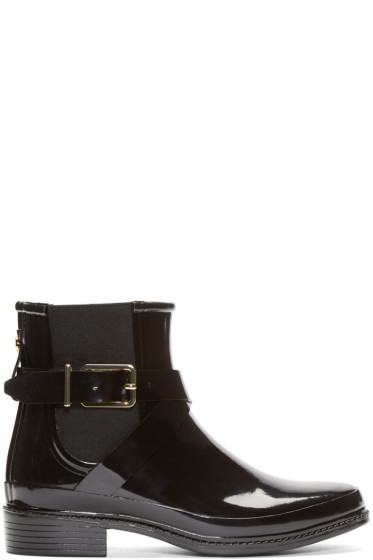Burberry London - Black Rubber Leanne Boots