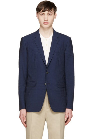 Burberry London - Navy Seersucker Sterling Blazer