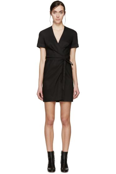 Isabel Marant Etoile - Black Linen Kansas Wrap Dress