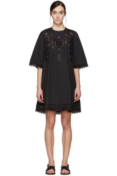 Isabel Marant Etoile - Black Poplin Domino Dress