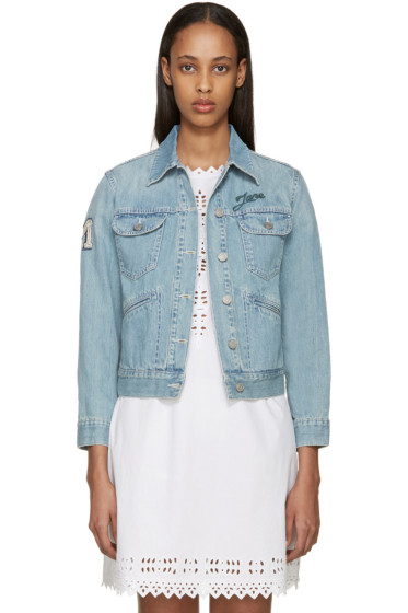 Isabel Marant Etoile - Blue Denim Eagle Rainmakers Purd Jacket