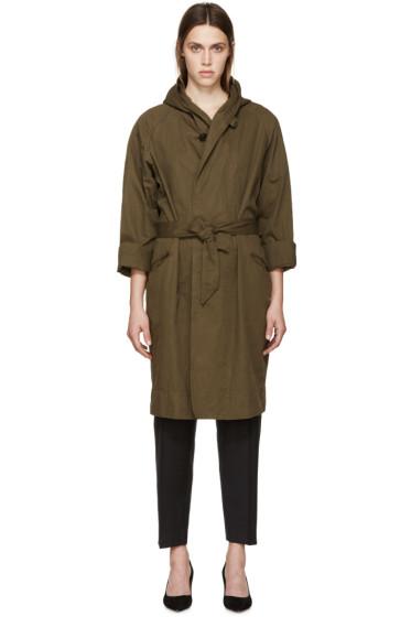Isabel Marant Etoile - Green Hooded Trench Coat