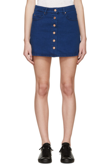 Isabel Marant Etoile - Navy Denim Plume Miniskirt